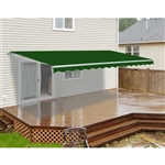 Retractable Patio Awning - 6.5 x 5 Feet - Green - ALEKO