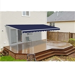 Retractable Patio Awning - 8 x 6.5 Feet - Dark Blue - ALEKO