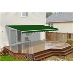 Retractable Patio Awning - 8 x 6.5 Feet - Green - ALEKO
