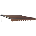Half Cassette Retractable Patio Awning - 10 x 8 Ft. (3 x 2.4 m) - Brown - ALEKO
