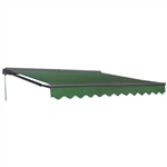 Half Cassette Retractable Patio Awning - 10 x 8 Ft. (3 x 2.4 m) - Green - ALEKO