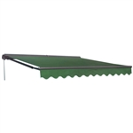 Half Cassette Retractable Patio Awning - 12 x 10 Ft. (3.6 x 3 m) - Green - ALEKO