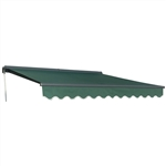 Half Cassette Motorized Retractable Patio Awning - 12 x 10 Feet - Green - ALEKO