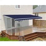 Motorized Retractable Patio Awning 12x10 Feet - Blue