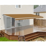 ALEKO 16x10 Ft Motorized Retractable Patio Awning, SAND Color