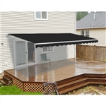 Motorized Retractable Patio Awning - 20x10 Feet - Black - Color