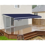 Motorized Retractable Patio Awning - 20x10 Feet - Blue - ALEKO