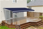 Motorized Retractable Patio Awning - 6.5 x 5 Feet - Dark Blue - ALEKO