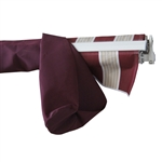 Protective Awning Cover - 20x10 Feet - Burgundy - ALEKO