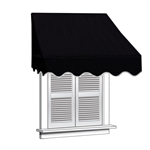 ALEKO® Window Awning BLACK Color