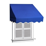 ALEKO® Window Awning BLUE Color