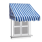 ALEKO® Window Awning Blue/White Stripe Color