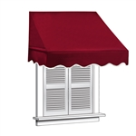 ALEKO® Window Awning BURGUNDY Color