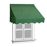 ALEKO® Window Awning GREEN Color