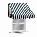 ALEKO® Window Awning Green/White Stripe Color