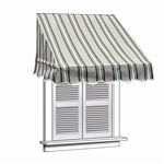 ALEKO® Window Awning MULTI-STRIPE GREEN Color