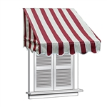 ALEKO® Window Awning Mulit-stripe Red Color