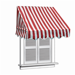 ALEKO® Window Awning Red/White Stripe Color