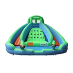 Island Water Slide Bounce House with Climbing Wall and Blower - ALEKO