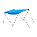 ALEKO® BSTENT380B Summer Canopy Boat Tent  Sunshade Shelter for Inflatable Boats, Blue Color