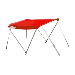 ALEKO® BSTENT380R Summer Canopy Boat Tent  Sunshade Shelter for Inflatable Boats, Red Color