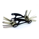 Multi-Functional Bicycle Tool - 1.5 x 3 inches - Black - ALEKO