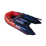 Inflatable Boat with Aluminum Floor - 8.4 ft (2.6 m) - Red and Black - ALEKo