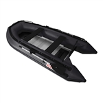 ALEKO® 10.5 Ft Inflatable Boat with Aluminum Floor - Black