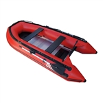 ALEKO® 10.5 Ft Inflatable Boat with Aluminum Floor - Red