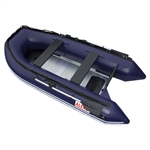 ALEKO® 12.5 Ft Inflatable Boat with Aluminum Floor - Blue