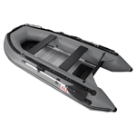 ALEKO® 12.5 Ft Inflatable Boat with Aluminum Floor - Grey