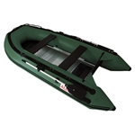 ALEKO® 12.5 Ft Inflatable Boat with Aluminum Floor - Dark Green