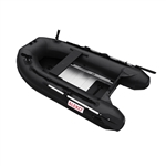 ALEKO® BTF250BK PRO Fishing Boat 8.4 Feet (2.6 m) with Aluminum Floor 4 Person Inflatable Boat with Fishing Rod Holders and Front Board, Black