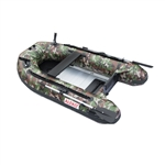 ALEKO® BTF250CM PRO Fishing Boat 8.4 Feet (2.6 m) with Aluminum Floor 4 Person Inflatable Boat with Fishing Rod Holders and Front Board, Camouflage