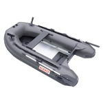 PRO Fishing Inflatable Boat with Aluminum Floor  - Fishing Rod - Front Board Holders - 8.4 ft - Gray - ALEKO