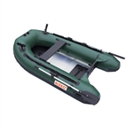 ALEKO® BTF250GR PRO Fishing Boat 8.4 Feet (2.6 m) with Aluminum Floor 4 Person Inflatable Boat with Fishing Rod Holders and Front Board, Dark Green