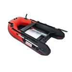 ALEKO® BTF250RBK PRO Fishing Boat 8.4 Feet (2.6 m) with Aluminum Floor 4 Person Inflatable Boat with Fishing Rod Holders and Front Board, Red and Black