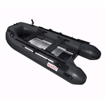 ALEKO® BTF320BK PRO Fishing Boat 10.5 Feet (3.2 m) with Aluminum Floor 4 Person Inflatable Boat with Fishing Rod Holders and Front Board, Black