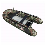 ALEKO® BTF320CM PRO Fishing Boat 10.5 Feet (3.2 m) with Aluminum Floor 4 Person Inflatable Boat with Fishing Rod Holders and Front Board, Camouflage