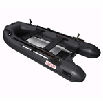 ALEKO® BTF380BK PRO Fishing Boat Raft 12.5 Feet (3.8 m) with Aluminum Floor 6 Person Inflatable Boat with Fishing Rod Holders and Front Board, Black