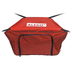 Front Bow Storage Bag for 8.4 Foot Boats -  26 x 16 Inches - Red - ALEKO