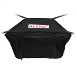 Front Bow Storage Bag for 12.5 Foot Boats -  19 x 30 Inches - Black - ALEKO