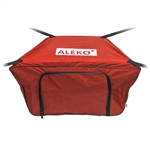 Front Bow Storage Bag for 12.5 Foot Boats -  19 x 30 Inches - Red - ALEKO