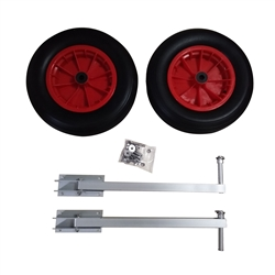 Pair of Heavy Duty Aluminum Alloy Wheels for Inflatable Boats
