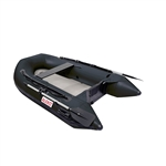 Inflatable Air Floor Sport Boat - 8.4 Foot - Black - ALEKO
