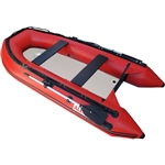 Inflatable Boat with Air Deck Floor - 10.5 Ft - Red - ALEKO