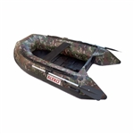 ALEKO® BTSDSL250CM 3 Person Inflatable 8.4 Feet (256 cm) Fishing Raft Sport Motor Boat with Pre-Installed Slide Floor, Camouflage