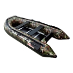 ALEKO® BTSDWD320CM Inflatable 4 Person Motor Fishing Boat Raft 10.5 Feet (3.2 m) with Wood Floor, Camouflage