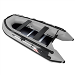 Inflatable Sport Boat with Wood Floor - 10.5 Feet - Gray - ALEKO