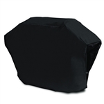 Heavy Duty Weather Resistant Gas BBQ Grill Cover - PVC Coated Polyester - Black - Medium